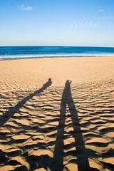 i am soooooooo tall..... lol... (~ geisha ~) Tags: shadow sky beach me water sand sydney australia moi x haha narrabeen my mywinners doesthisshadowmakemybuttlookbig menoseeanybutts