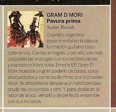 Gram D Mori @ Revista La Nación