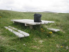 The trouble with putting picnic tables on sand dunes