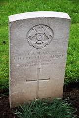 A.H. Chisenhale-Marsh, 9th Lancers, 1918, War Grave, Lijssenthoek (PaulHP) Tags: ww1 world war one frst headstone marker grave military cemetery cwgc belgium atherton harold chisenhalemarsh capt captain 28th september 1918 9th queens royal lancers 34th div division gen general staff lijssenthoek epping gaynes park swaine essex