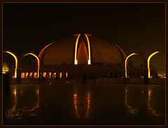 Pakistan Monument (IshtiaQ Ahmed (is Back)) Tags: pakistan light monument lowlight arches islamabad shakarparian weatview