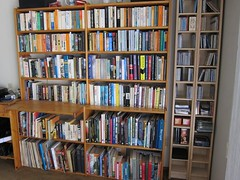 The book shelves