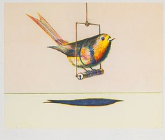 Wayne Thiebaud, Bird on a Swing, from Recent Etchings I, 1971, sold for $9760 May 3 2011 at Bonhams