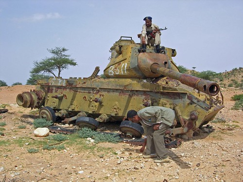 Abandoned tank in Somalia