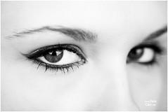 Eye Contact (petecarr) Tags: girls portrait blackandwhite eye bwdreams