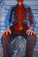 bet012 (splishsplash1123) Tags: ketchup messy wam shavingcream gunge shirtandtie lostbet