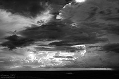 Waiting storm (Renmarc) Tags: sea sky bw cloud white storm black nature rain clouds landscape mono flickr mare nuvola favorites natura explore more cielo faves favs bianco nero paesaggio monocrome blueribbonwinner interestingess bwdreams renmarc