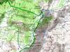 Carte du Cuscionu partie Sud-Est avec l'itinéraire de la Punta di Sistaja