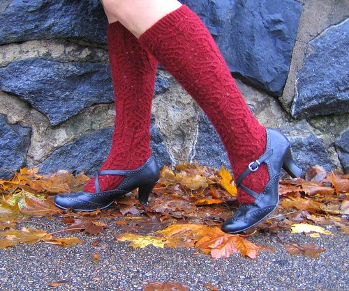 Twisted Flower Stockings