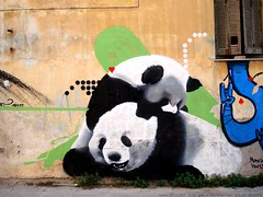 Panda Love (server pics) Tags: urban streetart cute love nature wall graffiti panda artist sweet athens greece grecia artists writers planet writer grce wwf pintura  grafite  griekenland fors athnes      pandalove  urbangraffiti  athensstreetart serverpics greekartist greekartists