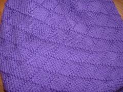 detail of purple sweater