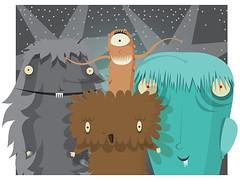 Monstruos (MartinaFlor) Tags: illustration digital drawing monsters dibujo monstruos ilustracin