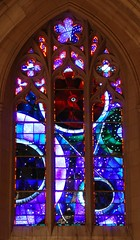 Is Not God in the Height of Heaven? (Tiz_herself) Tags: windows architecture washingtondc nikon space gothic churches cathedrals astronomy stainedglasswindows moonrocks washingtonnationalcathedral d40x