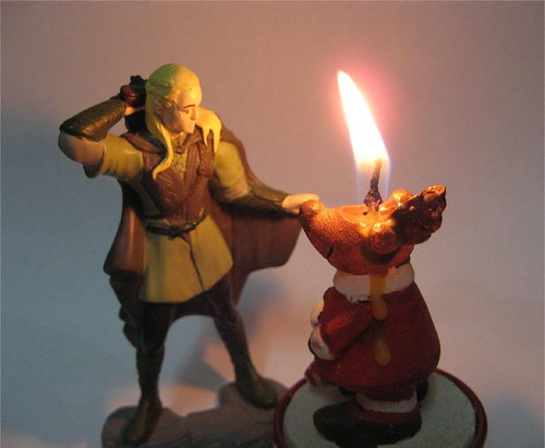 Legolas faces the threat of the xmas meltdown fairy