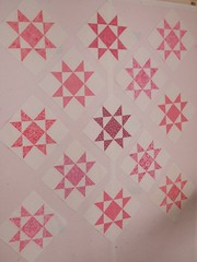 Quilt Pink #1 - just the blocks