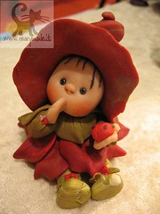 Collectible doll - Leafa (Red) (marytempesta) Tags: polymerclay ladybug handmadecrafts collectabledoll