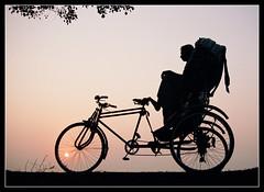 waiting (jashim salam) Tags: life sunset beach beautiful wait rikshaw fivestarsgallery platinumphoto infinestyle sunsetrikshawbeachlifebeautifulwait