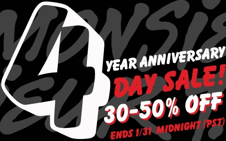 Monsieur T.'s 4th anniversary sale!