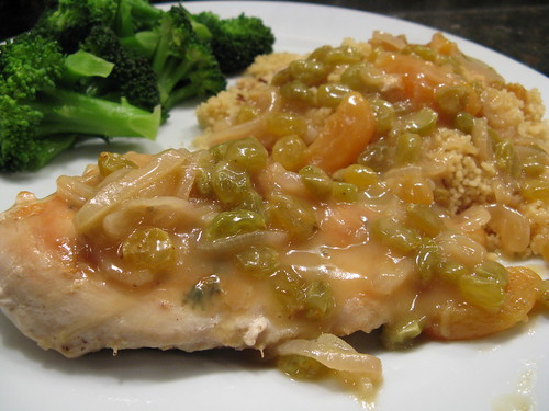 chicken with sweet raisins & apricots