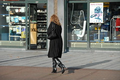 Were These Boots Made For Walking? (FaceMePLS) Tags: woman girl leather highheels candid leer arnhem nederland thenetherlands streetphotography blond vrouw meisje blackboots laarzen nikond200 straatfotografie facemepls