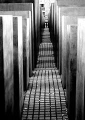 .walking the road of sorrow. (gicol) Tags: bw berlin germany holocaust memorial monumento jew jewish biancoenero germania prospettiva nazism ebrei olocausto digitalcameraclub
