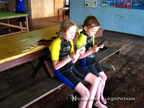 kids with ds lite and diving suit