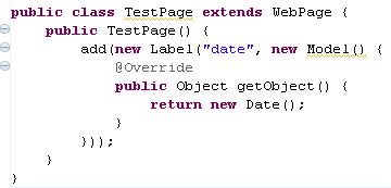 Page Wicket en Java