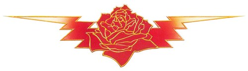 Grateful Dead rose n bolt design by Stanley Mouse