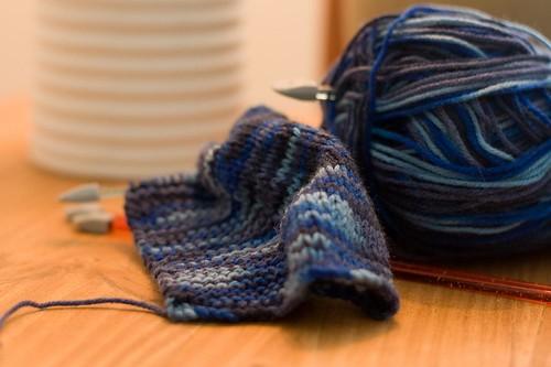 Knitting the next beanie...