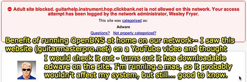 OpenDNS blocks from Adware