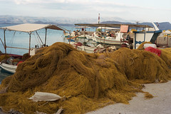 Fishing nets (Ed Chadwick) Tags: leica film kodak greece portra m2 160nc kiveri