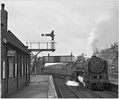 70001 at Kings Norton (pjs,0650) (geoff7918) Tags: kingsnorton 70001 carriagesidings birminghamnewstreet aston willesden isandplatform buildings 14041963