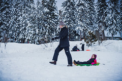 Incline Village Tahoe Sled Riding (Carnesaurus) Tags: tahoe laketahoe snow sledding sledriding inclinevillage nevada