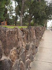Rock Wall Surrounding University of Arizona Campus