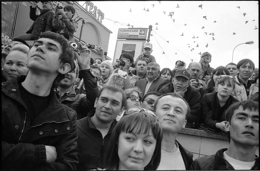 scan577/ Москвичи наблюдают за парадом, 9 мая 2011, Москва