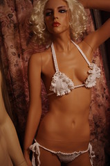 ruffles and crochet micro bikini - by picable