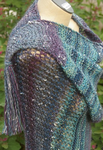 Dorable Prayer shawl of Plymouth yarn Mushishi from WC Mercantile side