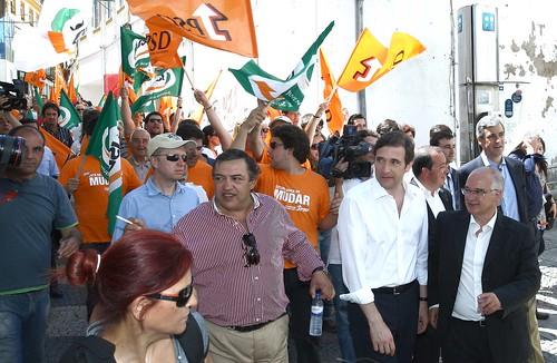 Pedro Passos Coelho arruada em Portalegre-LSAR4181