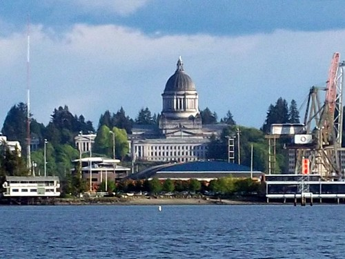 View of Downtown Olympia from Priest Point Park