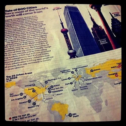 """Precisa de verde, SP está em 10o lugar na lista """"Urban areas in 2025"""" (Time)"""