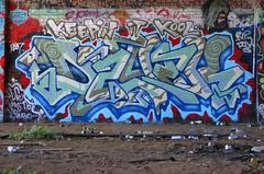 Dzyer (FajitaGate) Tags: sf sanfrancisco graffiti vandalism dzyer bombing 415