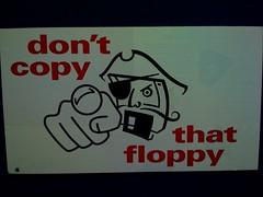 Floppy (Fetchy) Tags: apple warning computer mac jobs ad advertisement floppy pirate copy iphone dontcopythatfloppy