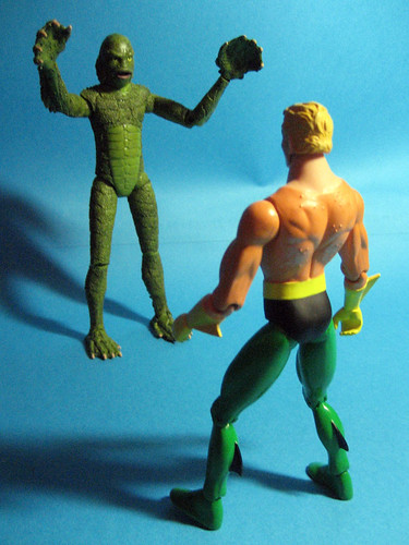 Creature and Aquaman