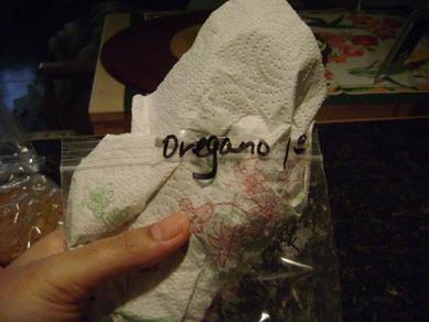 storing oregano