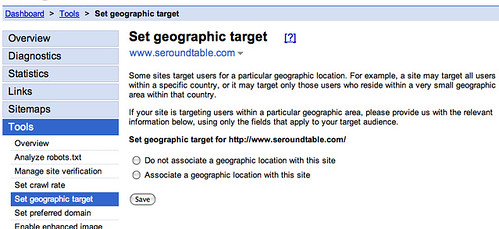 Set Geographic Target in Google