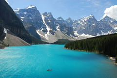 A Better Place for a Banff Canoe Ride (NaturalLight) Tags: park lake canada bravo national alberta banff moraine blueribbonwinner specland anawesomeshot frhwofavsbest