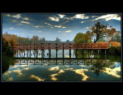 The Bridge of Dreams (szefi) Tags: bridge autumn lake reflection fall nature water landscape hungary canon350d soe hdr vob supershot tonemapping mywinners diamondclassphotographer thegoldenmermaid theperfectphotographer pteri