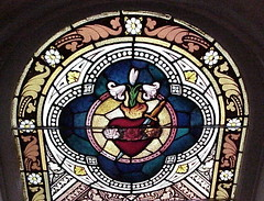 """Stained Glass Story"" (sunnybrook100) Tags: stainedglass vanburen arkansas crawfordcounty stmichaelscatholicchurch toquoteaphrase"
