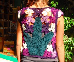 Crochet back (sifis) Tags: sweater nikon knitting tank lace top crochet merino athens greece d200 pullover bolero sakalak