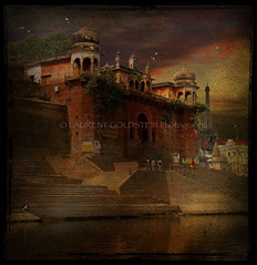 Prelude to the Marvels of my Enchanted Mind (designldg) Tags: sunset india water river colours eiffeltower dream fantasy varanasi ganga ganges ghats benaras  amazingtalent mywinners hourofthediamondlight avertedvision